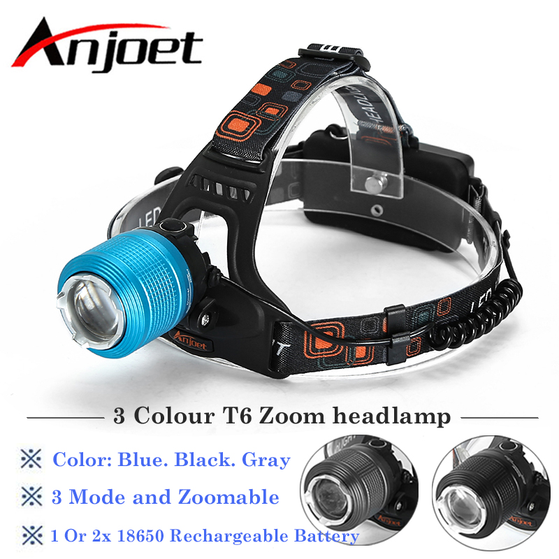Charger 2000Lm CREE XM-L XML T6 LED Zoomable Headlamp Headlight Torch 2x 18650