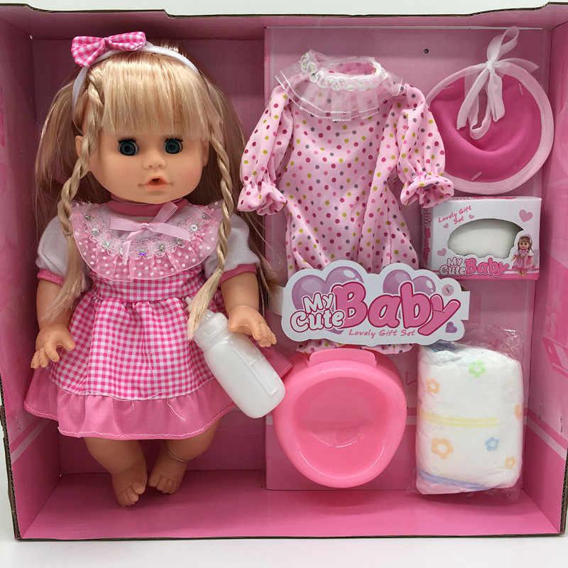 คริสต์มาสของขวัญ 32 ซม.กระพริบดื่มน้ำ Pee และพูดตุ๊กตาสาวพูดคุยทารกแรกเกิดตุ๊กตา Bebe Reborn เด็กตุ๊กตา