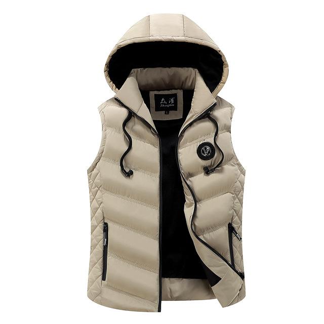 Icpans Men's vest winter Hoodes down cotton vest Men's Korean vest warm wave new style vest male zipper 2018 plus size 3XL