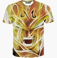 Новый горячий мужская футболка с коротким рукавом летом топы забавный печатных Золотой лицо мультфильм футболка 3d футболки