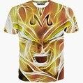Nuevos hombres calientes de la camiseta de manga corta de verano tops divertido impreso de Oro cara de dibujos animados camiseta 3d t-shirt