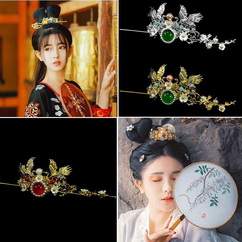 beautiful hair crown han dynasty cosplay hair accessories halloween cosplay vintage photography hair flower ancient style