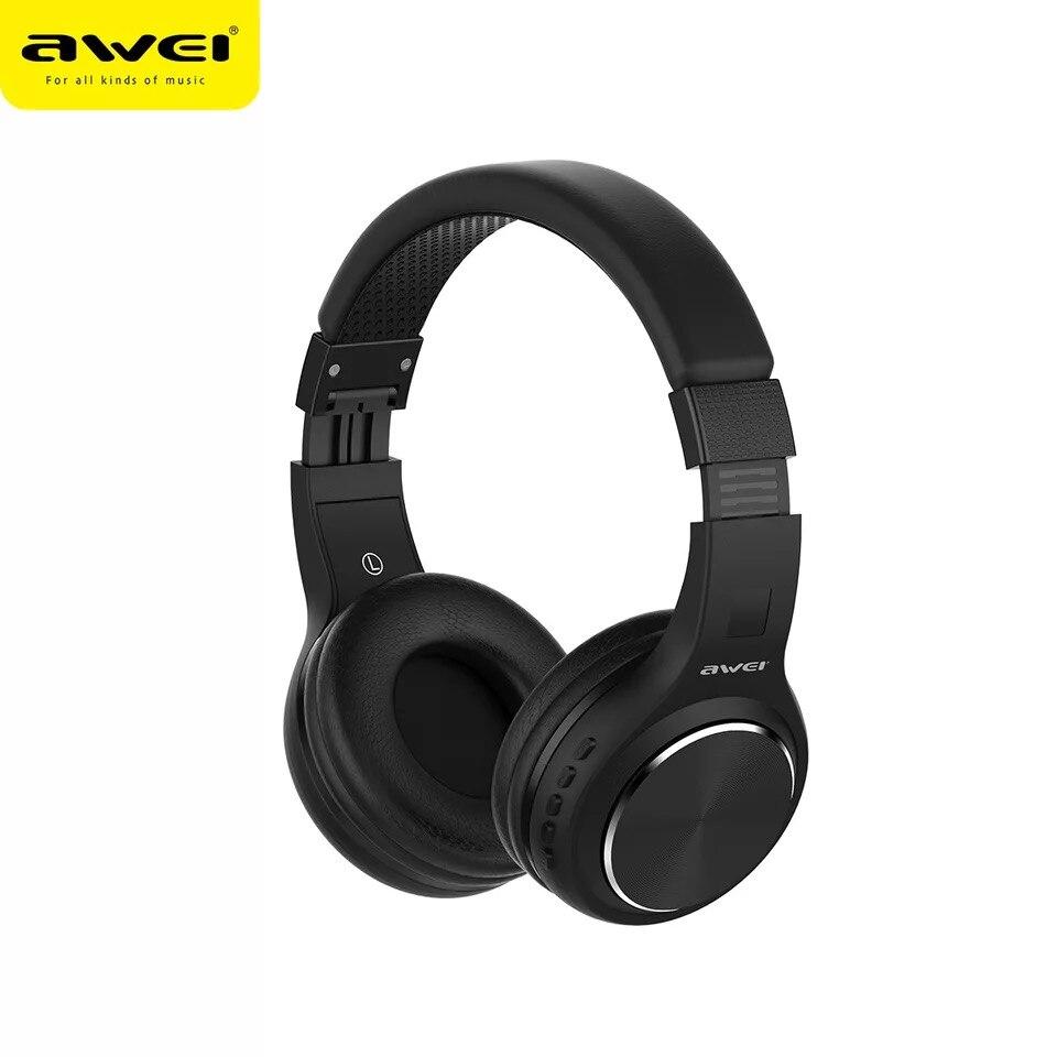 Awei A600BL  Bluetooth Earphone Sound Headset Stereo Wireless Folding Running Headphone Large Battery Capacity