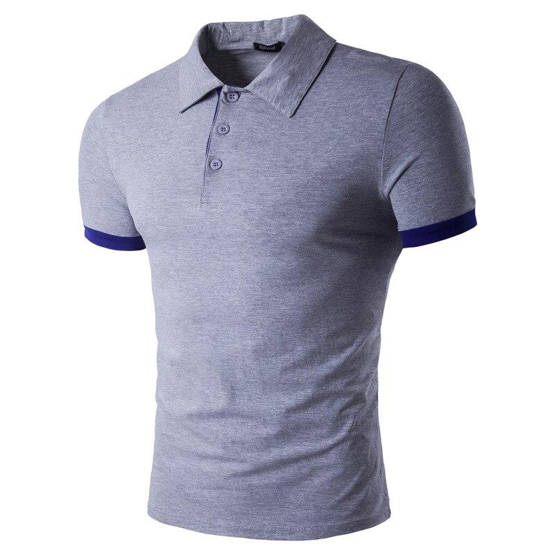 Men's Spring And Summer Cotton Lapel POLO Shirt Contrast Color Splice