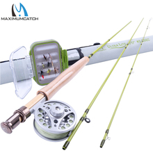 Maximumcatch 2WT Fly Rod Combo 6FT Fly Rod Aluminum Reel Weight Forward Line 12 Dry Flies Fly Fishing Outfit
