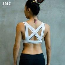 JNC Women Sexy Criss Cross Strappy Bralette Seamless Sports Bra Super Soft Stretchy Yoga Top Bra Activewear Clothes S/M/L/XL