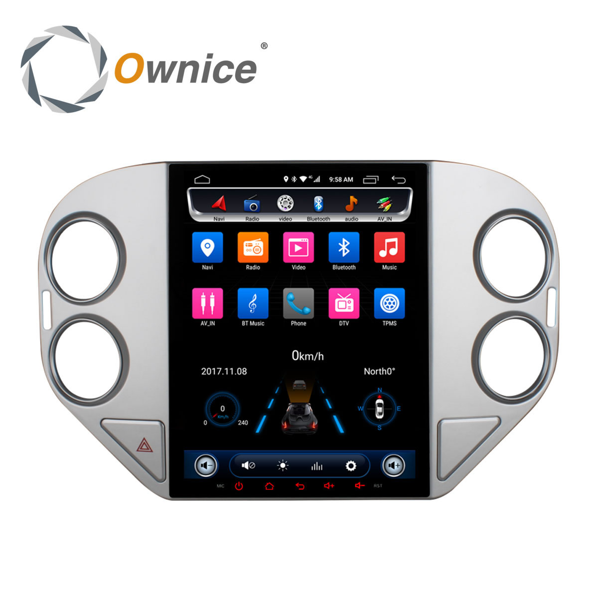Ownice Vertical Octa Core 2G RAM Android 6.0 Car DVD GPS Navi Player Radio Stereo for VW Tiguan 2010 2011-2016 32G ROM 2.5D IPS ownice c500 4g sim lte octa 8 core android 6 0 for kia ceed 2013 2015 car dvd player gps navi radio wifi 4g bt 2gb ram 32g rom