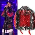 Alta Qualidade Dos Homens de Justin Bieber palácio bape Camuflagem Off-White Jacket Cotton thrasher hoodies yeezy fora do branco dos homens moletom