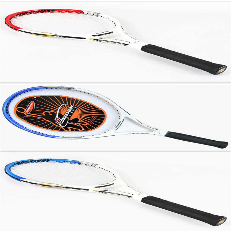 tenis men&womenTennis Racket High Quality Carbon Aluminum Alloy Tennis Racket Racquets Equipped with Bag 2018 New