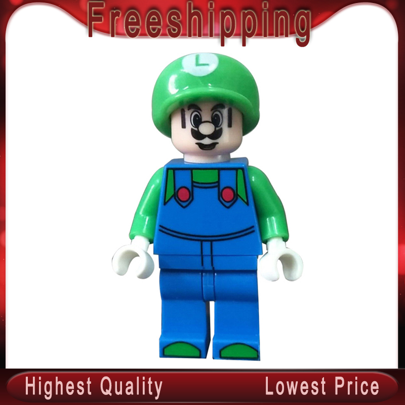 Super Mario Bros Luigi Peach Toad Goomba Action Figures Building Blocks For Children MG0157