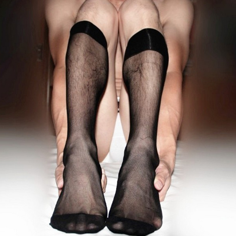 SORRYNAM 20 Pairs/Lot Male Stockings Nylon Transparent Silk Sock ultra-thin Sexy Mens Business Socks