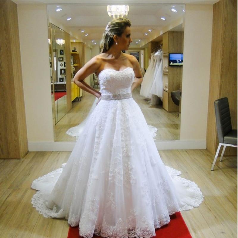 Vestidos de Novia de encaje Balón vestido de Novia de Tul de Novia Vestido de We