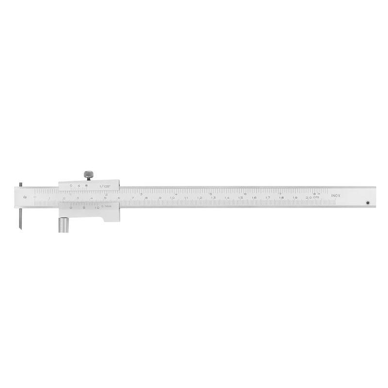 Штангенциркуль из нержавеющей стали 0-200 мм, микрометр, параллельная линейка маркировки, измерительный инструмент, металлические суппорты