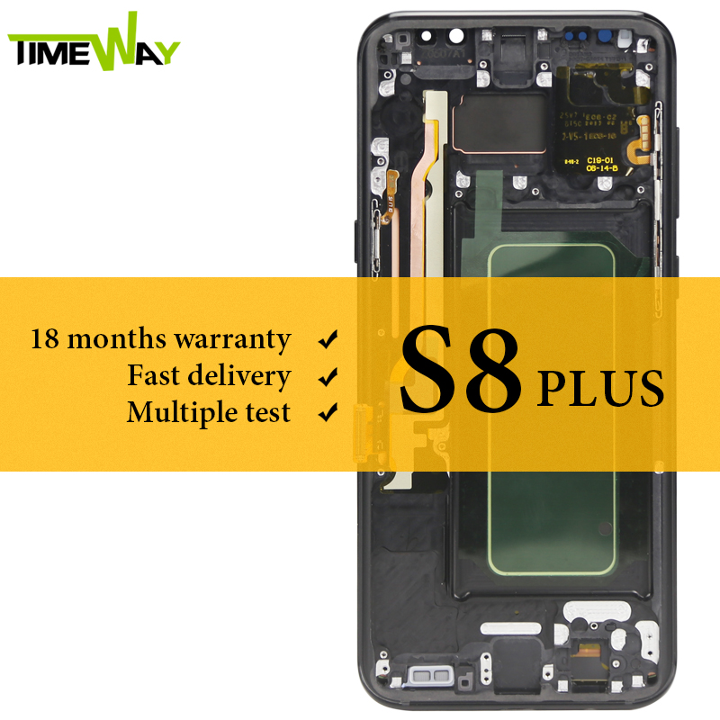Tested LCD For Samsung S8 Plus LCD Dispaly Super AMOLED With Frame With Touch Screen Assembly