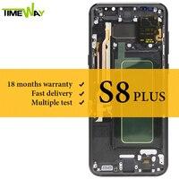 Протестировано ЖК дисплей для samsung S8 plus ЖК дисплей Супер AMOLED с рамкой с сенсорным экраном в сборе для Samsung S8 Plus G955 экран