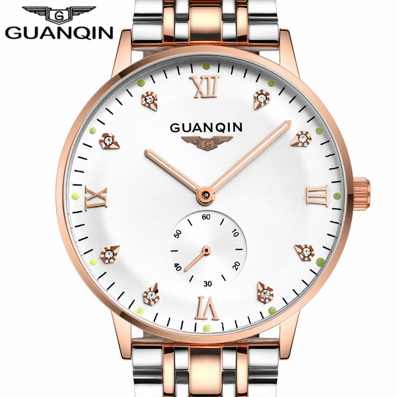 Mens Watches Top Brand Luxury GUANQIN Watch Men Fashion Luminous Clock Male Sport Waterproof Automatic Mechanical Wristwatch