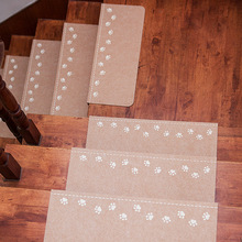 13Pcs Home Luminous Self-adhesive Non-slip Floor Staircase Carpets Bear Claw Pattern Stair Treads Protector Mats