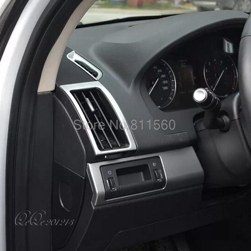 For Land Rover Freelander 2 2011-2015 ABS Chrome Interior mouldinds AC Air Conditioning Vent Cover Outlet Trim Frame 6 pcs 4pcs abs interior door cover trim for land rover range rover evoque 2011 2016