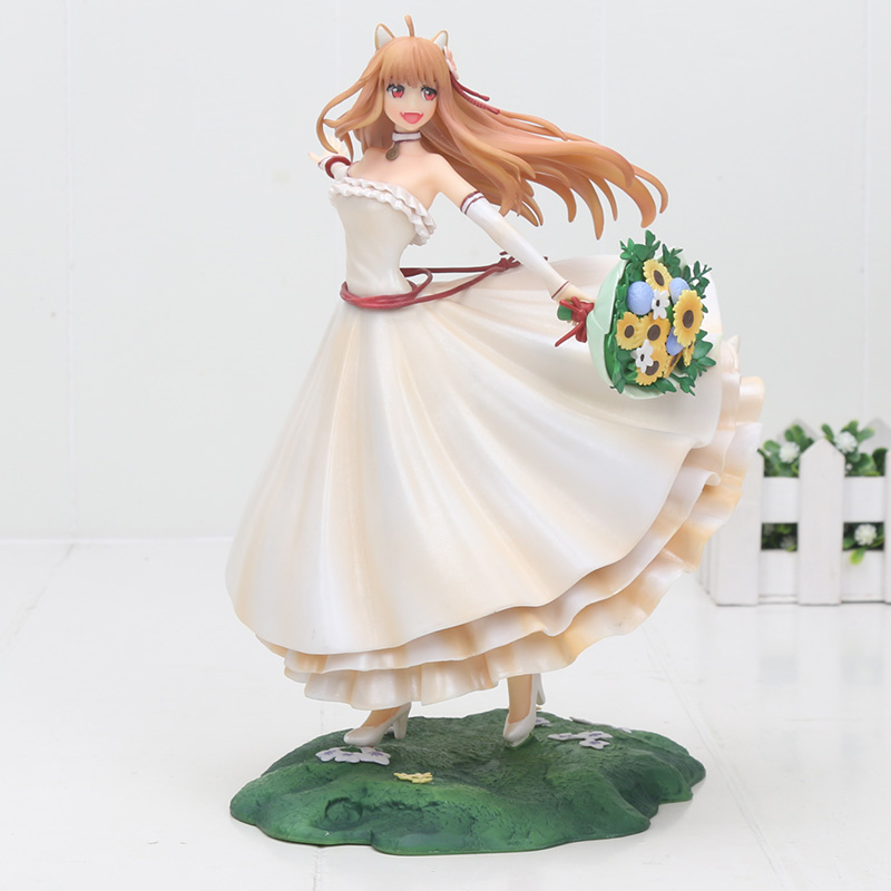 24cm Kotobukiya Spice and Wolf Holo Renewal wedding dress pvc action Figure toys