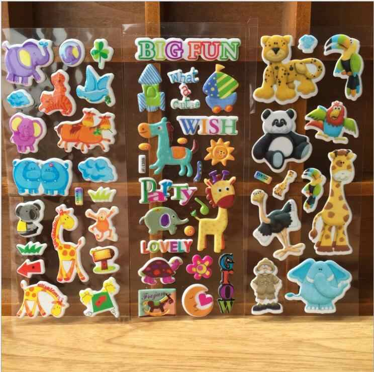 10 листов смешанный мультфильм о розовой свинье динозавр 3D наклейка s автомобили наклейка с человеком-пауком учитель родители награда обучающие игрушки для детей Подарки