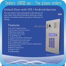 Беспроводной Wi-Fi 4 г видео-телефон двери с HD Камера, IP домофона дверной звонок Дистанционное управление Дверные звонки через смартфон и Планшеты DHL