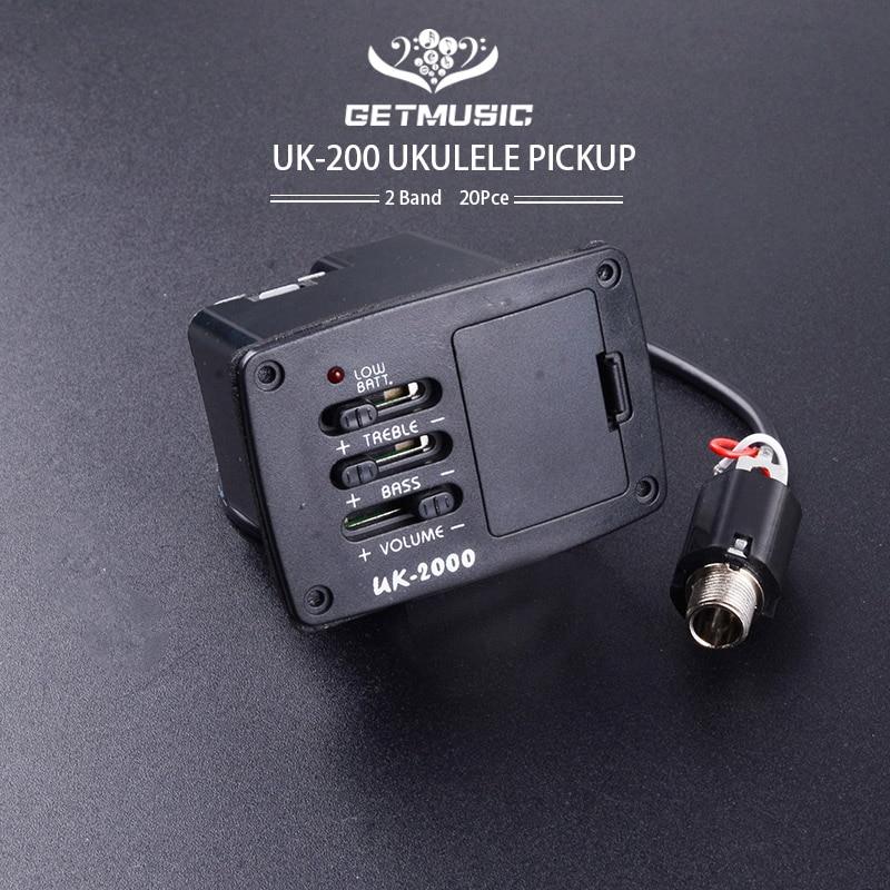 UK-2000 Ukulele 2 band EQ pre amp plus piezo pickup