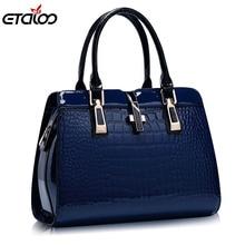 Europe women leather handbags PU handbag leather women bag patent handbag