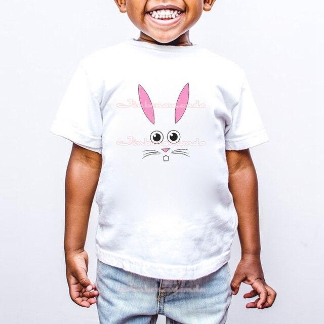 f0ae49e32 Bunny Face Easter Rabbit T-Shirt Fashion Cartoon Printing Girls T Shirts  Summer Boys Shirts Cute T Shirt For Girl Kids ETM-R2012