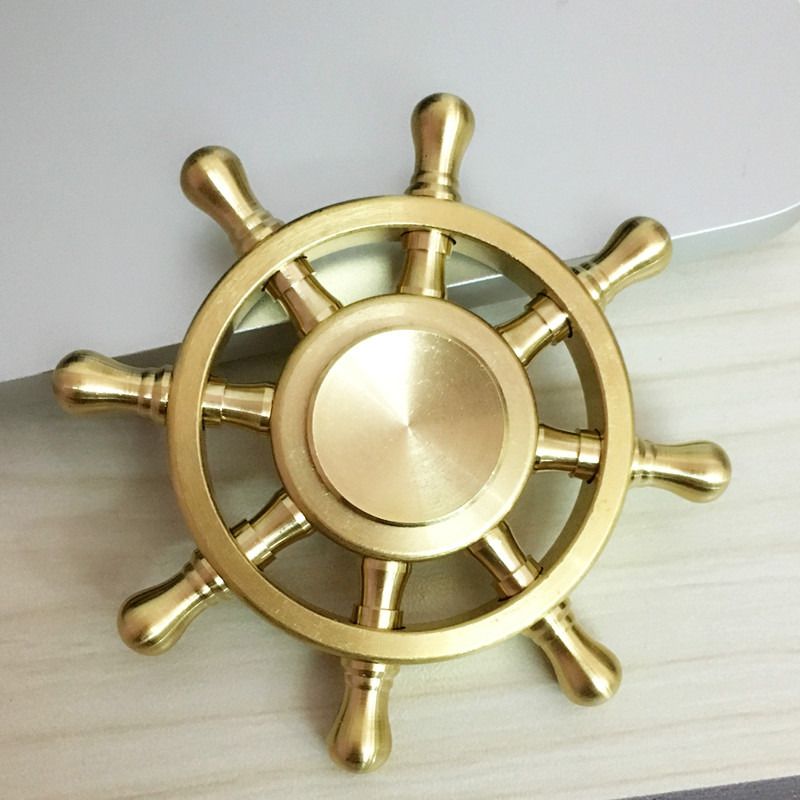 Rainbow Fidget Spinner Metal 6 Finger Spinner Hand Spinner Brass Alloy For Autism Adult AntiStress Relieve Focus Toy Gift Funny