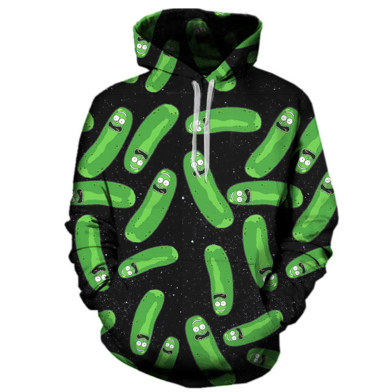 2017 Fashion Rick and morty Hip hop 3d Hoodies Hot cartoon pickle rick 3d printed Women/Men Hoody Streetwear hooded sweatshirts