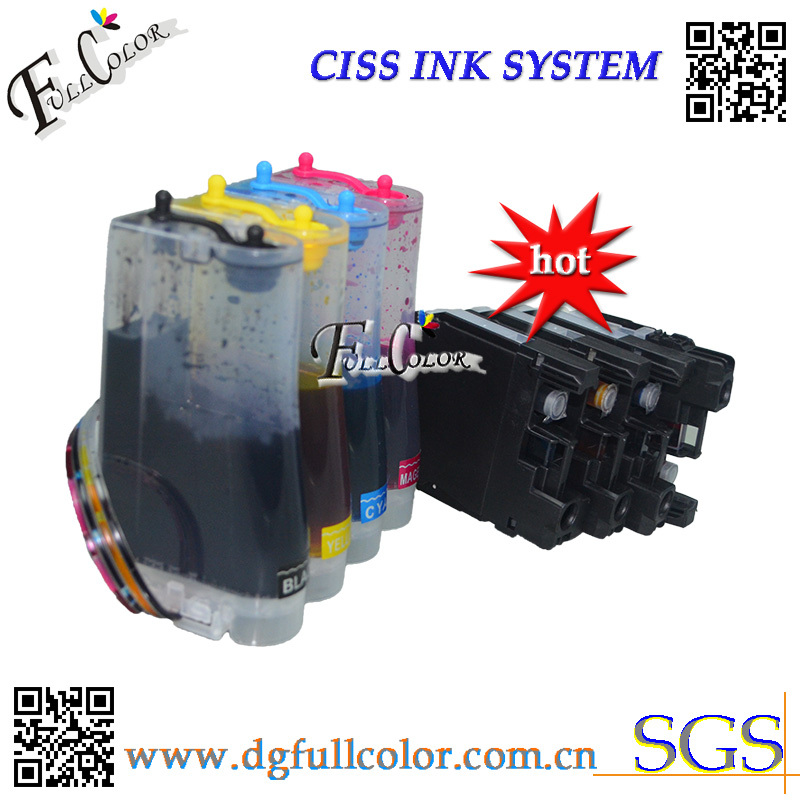Free Shipping New Ciss for LC123 LC125 Ink System with ARC Chip And Inks Compatible MFC-4110DW Ink Kits