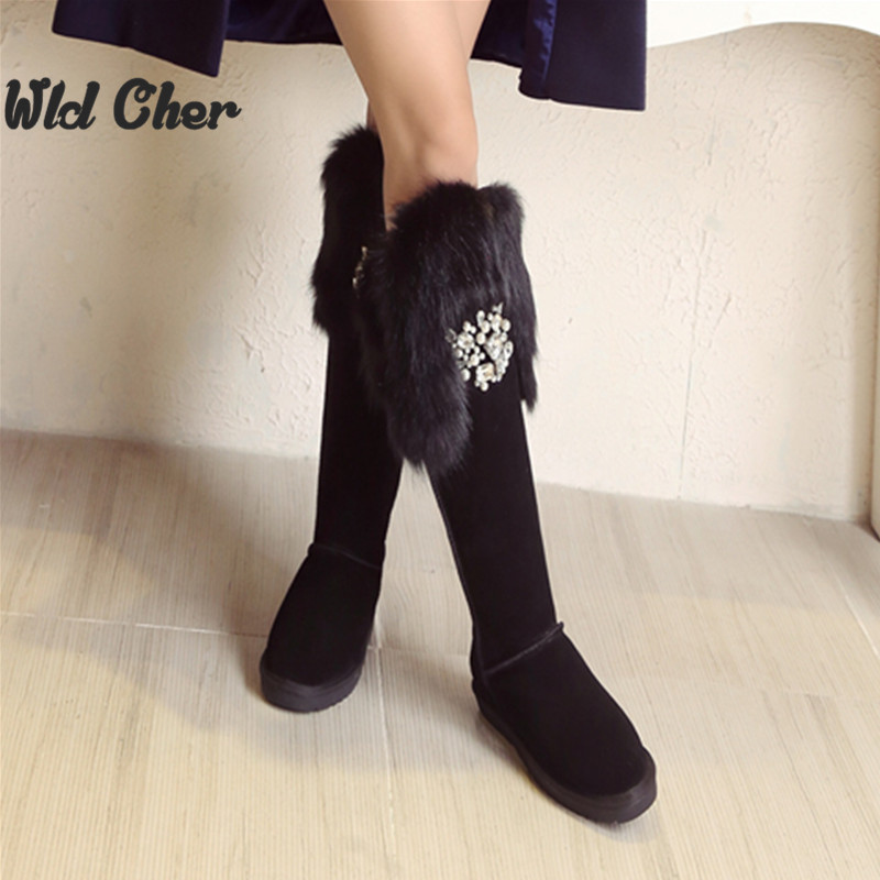 Online Get Cheap Thigh High Flat Real Leather Boots -Aliexpress ...
