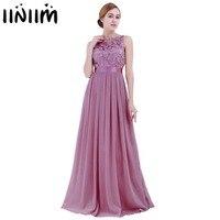 2019 Maxi Dresses for Women Ladies Embroidered Reflective Chiffon Dress Long Vestido de festa Prom Gown Formal Dress Party Dress