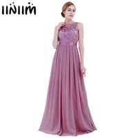 2019 Maxi Dresses for Women Ladies Embroidered Reflective Chiffon Dress Long Vestido de festa Prom Gown Formal Dress Party Dress