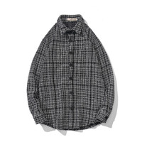 2018 Autumn Lattice Thick Easy Edition Jacket Type Shirt Loose Coat Youthfulness new listing Recommend Fashion casual sizeM 3XL