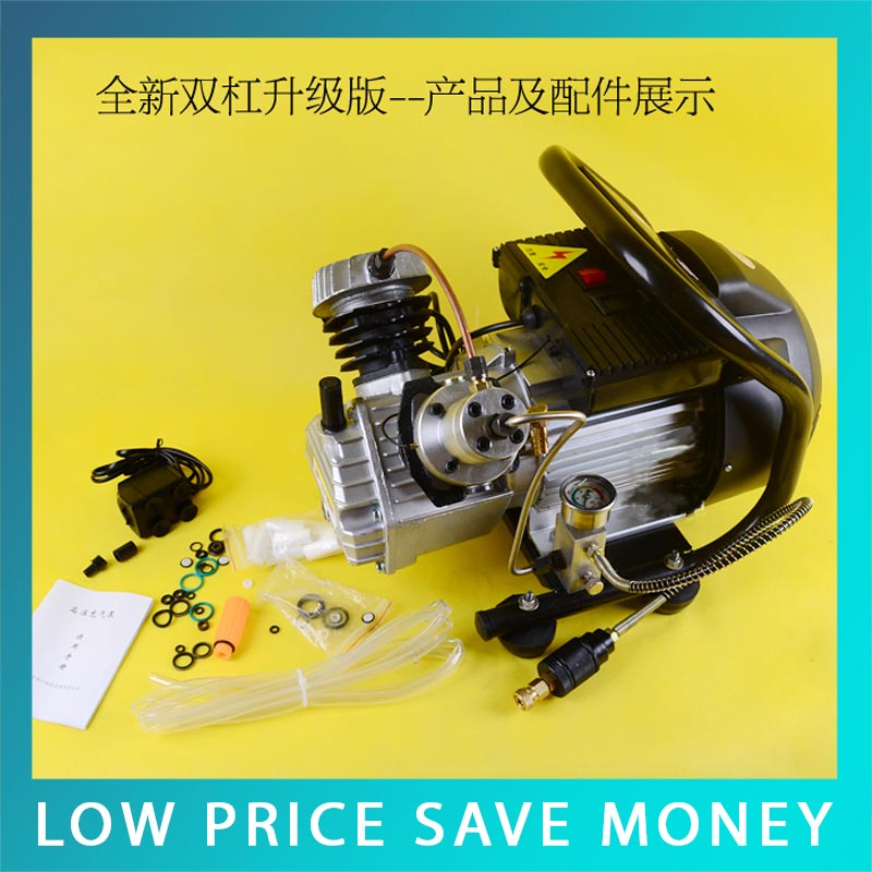 Hot Sale 2.2KW 0-30mpa Fast Two Cylinder Air Pump Compressor For Pneumatic Airgun Scuba Rifle PCP Inflator