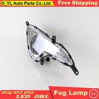 Car styling For Hyundai i40 2013 2015 LED DRL i40 High brightness guide LED DRL led fog lamps daytime running lights B style