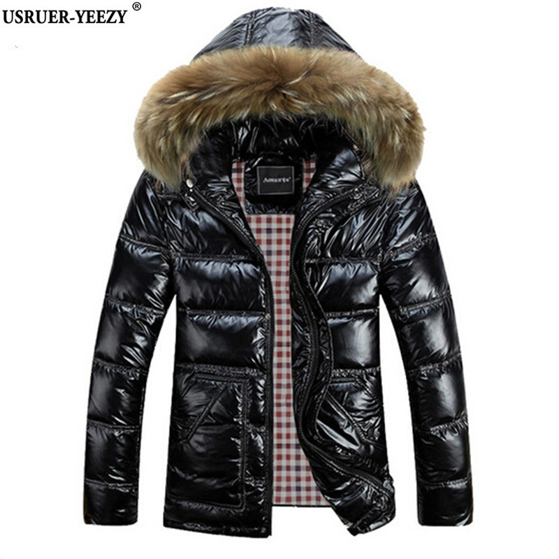 USRUER-YEEZY M-8XL Winter Men Down Jackets Brand Clothing Men's White Duck Hooded Jacket Thick Jaqueta Masculina Inverno Casacos цены онлайн
