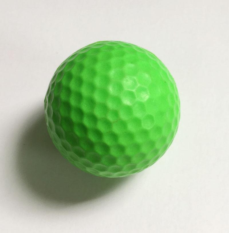 PGM Elastic Indoor Golf Soft Game Ball Yellow Golf PU Ball Training Practice Elastic Foam Golf Sponge Rubber Balls Capsules Aids