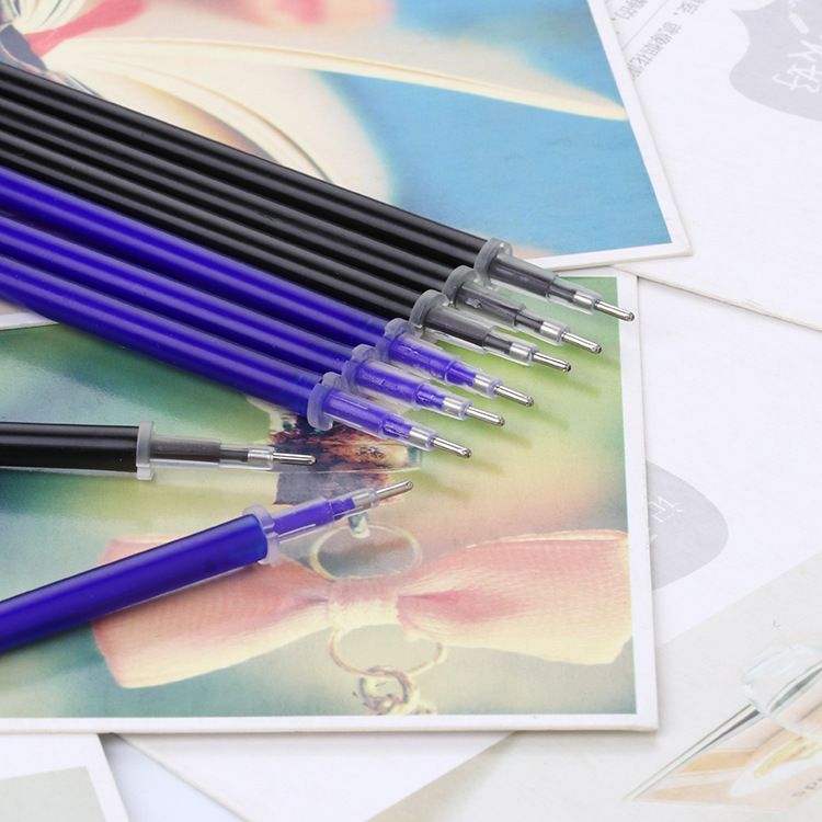 0 5mm 10pcs lot Erasable Gel Pen Refill Office Signature Rods Blue Black Ink Refill Office School Stationery Writing Supplies in Gel Pens from Office School Supplies