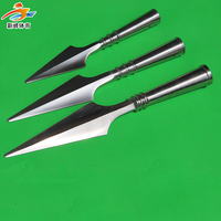 Stainless steel spear head wushu performance kungfu Hong Yingqiang heads Flat ridge design spear heads