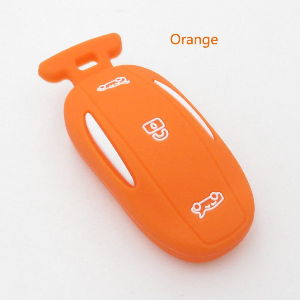 Xinyuexin силиконовый чехол ключ автомобиля FOB чехол для Тесла модель x 75D 90D 100D удаленный ключевой случае автомобиль-Стайлинг 3 кнопки внедорожни...
