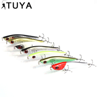 TUYA 7PCS/Set Hard Pencil Fishing Lure Lifelike 3D Eyes Hooks Sinking ABS Baits Crankbait Flying Fishing Lure 7#