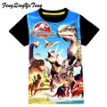 summer Jurassic World dinosaur children boys t shirt 3-9ages baby kids boys tops tee t shirts for children boy clothes garments