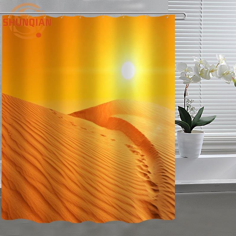 Desert Sand Dune Custom Shower Curtain Fabric Polyester Bathroom Curtain  Acceptable Custom Printed Shower Curtains In Shower Curtains From Home U0026  Garden On ...