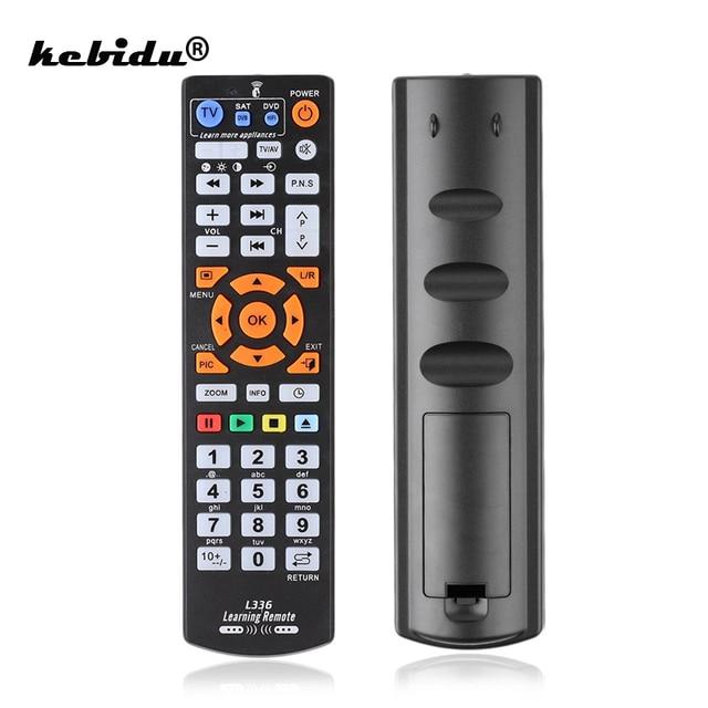 Kebidu חכם שלט רחוק בקר IR שלט רחוק עם פונקצית למידה לטלביזיה SAT DVD cbl עבור L336 סיטונאי