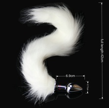 bdSM Dog Fox Tail Anal Plug sexy Toys Metal Fake Furry Butt Plug BDSM Flirt Anus Plug For Women role Games Product For Couples
