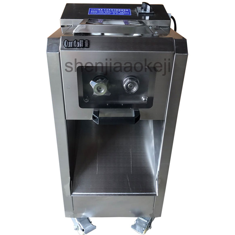 Commercial stainless steel electric meat slicer Household slicing machine electric cutting machine detachable 300kg/h 2200W1pc commercial lemon slicer machine professional fruit slicer machine electric orange slicer automatic fruit cutting machine 220v1pc