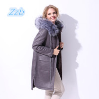 Winter Fashion Female Faux Fur Shearling Long Jacket Thick Warm Casual Plus Size 6XL Women Suede