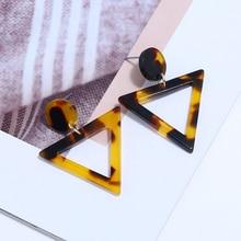 Bohopan Fashion Woman Triangle Dangle Earrings Charming Leopard Drop Earrings For Women Hot Selling Earings Fashion Jewelry 2019